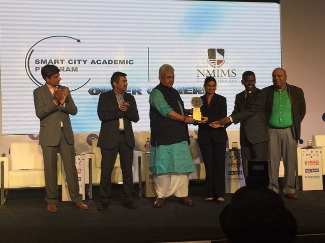 "The Interdisciplinary course on Smart cities won the ""Order of Merit"" award in the Academic Programs category at the BW Business World Smart City Conclave held in New Delhi on the 21st December, 2016."